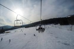 My first ski lift ride.