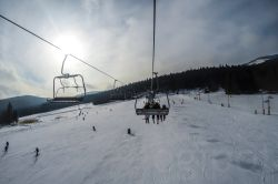 My first ski lift ride.